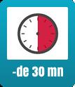 - de 30mn